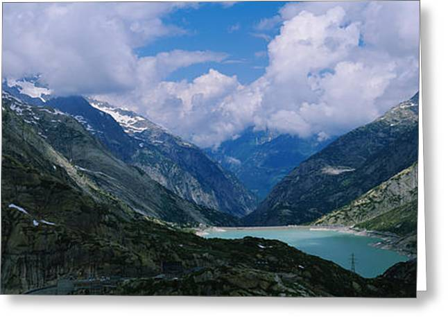 High Angle View Of A Lake Surrounded Greeting Card by Panoramic Images