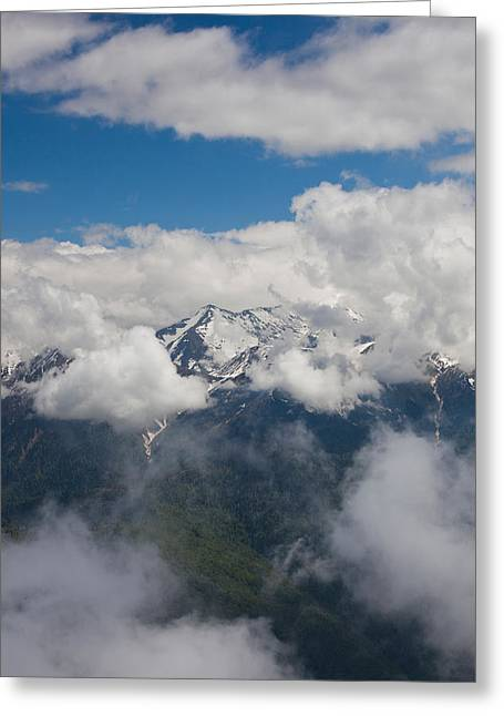 High Angle View Of Mountain Landscape Greeting Card by Panoramic Images