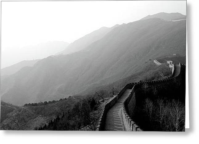 High Angle View Of The Great Wall Greeting Card