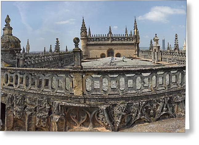High Angle View Of The Seville Greeting Card