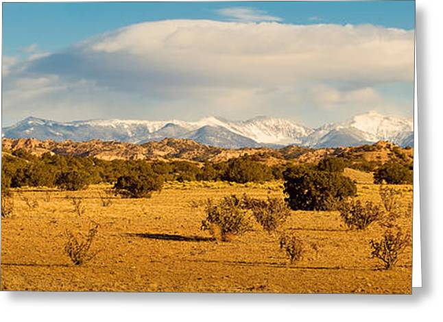 High Desert Plains Landscape Greeting Card