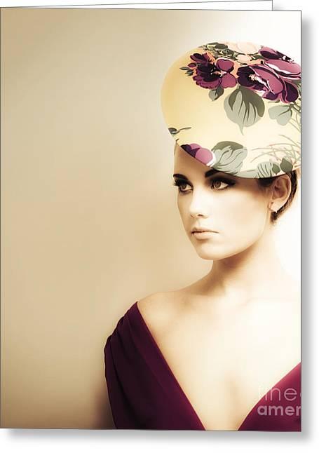 High Fashion Portrait Greeting Card by Jorgo Photography - Wall Art Gallery