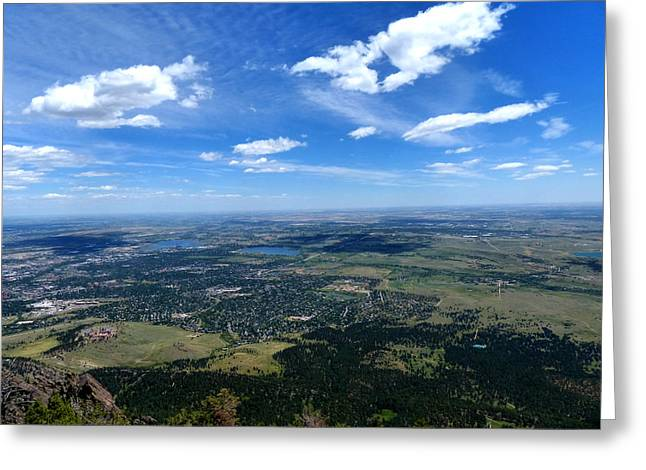 High Over Boulder Colorado Greeting Card