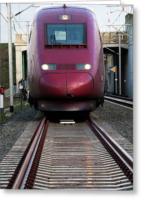 High-speed Train Greeting Card