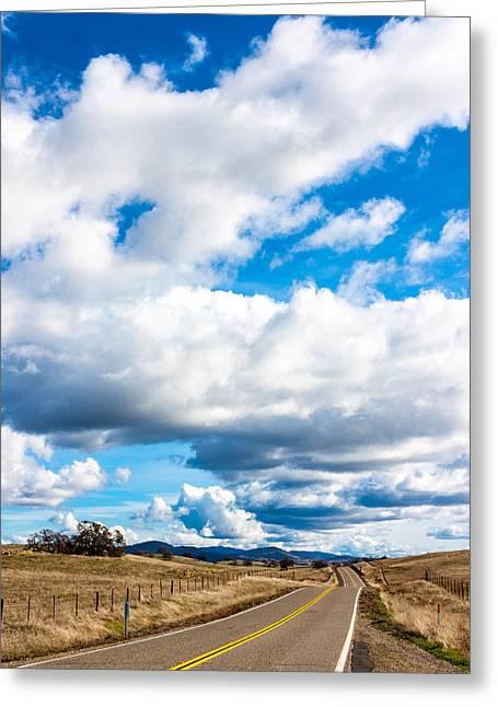 Highway 132 Greeting Card by John Crowe