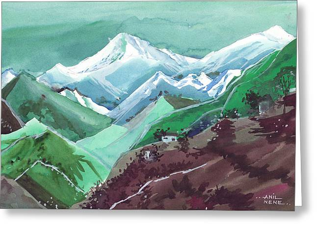 Himalaya 2 Greeting Card by Anil Nene