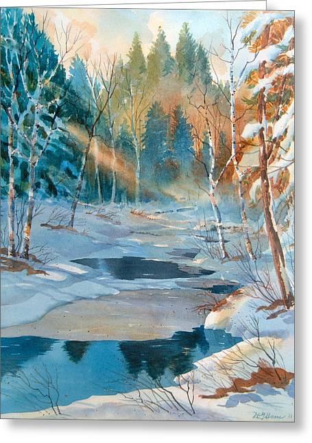 Hinchinbrooke Creek In Spring Greeting Card