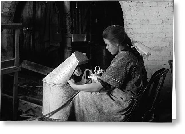 Hine Flower Factory, 1917 Greeting Card by Granger