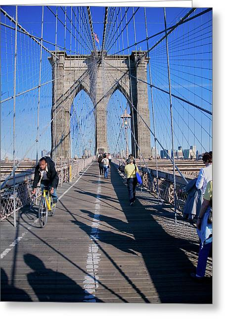 Historic Brooklyn Bridge, New York Greeting Card