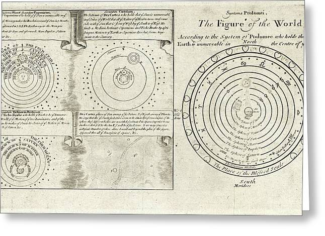 Historical Cosmologies Greeting Card by Library Of Congress, Geography And Map Division