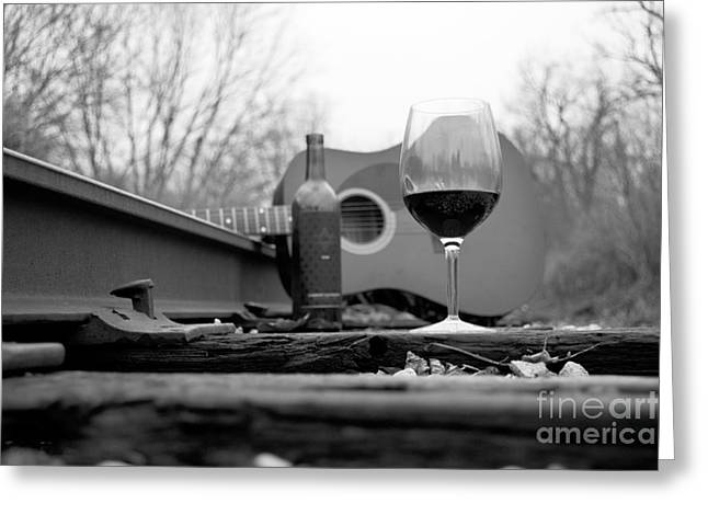 Hobos Like Wine Too Greeting Card by John Debar