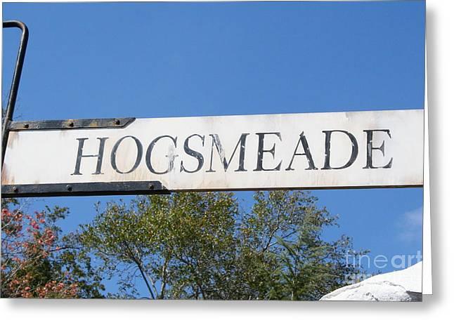 Hogsmeade Sign Greeting Card