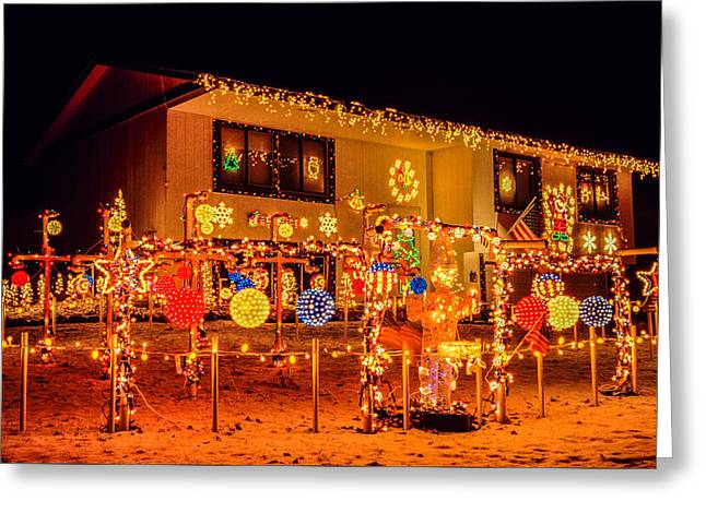 Holiday Lights Greeting Card by Le Phuoc