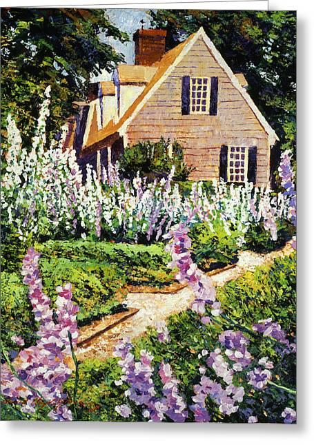 Hollyhock House Greeting Card by David Lloyd Glover