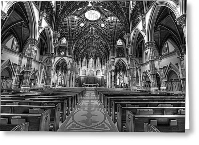 Greeting Card featuring the photograph Holy Name Cathedral  by Linda Edgecomb