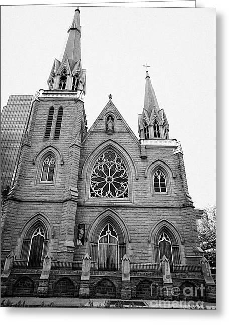 holy rosary cathedral headquarters of the roman catholic archdiocese of Vancouver BC Canada Greeting Card