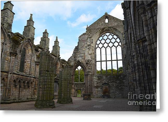 Holyrood Abbey Ruins Greeting Card