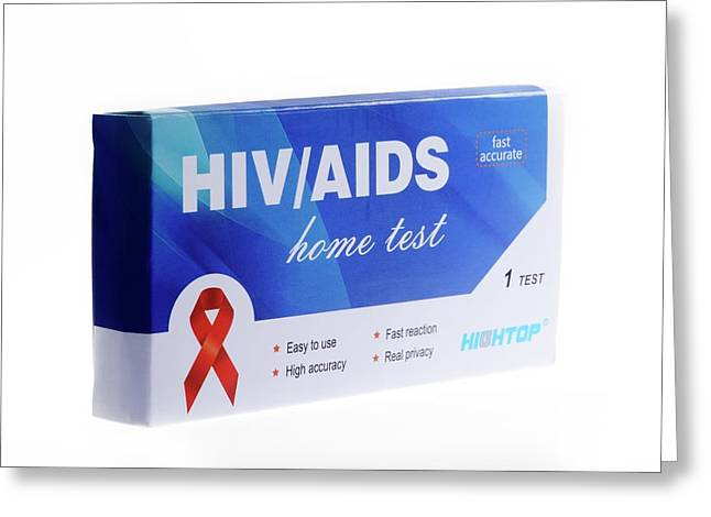 Home Hiv Test Greeting Card by Cordelia Molloy