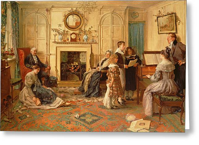 Home Sweet Home Greeting Card by Walter Dendy Sadler