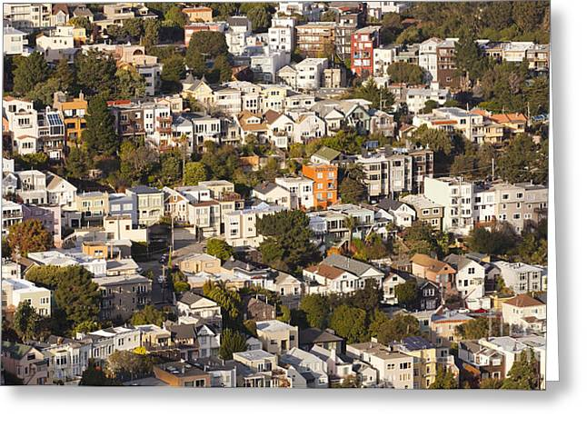 Homes Of San Francisco Greeting Card by B Christopher