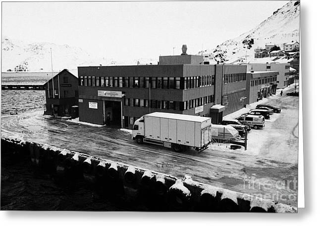 Honningsvag Isps Terminal Finnmark Norway Europe Greeting Card by Joe Fox