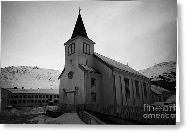 Honningsvag Kirke Church Finnmark Norway Greeting Card