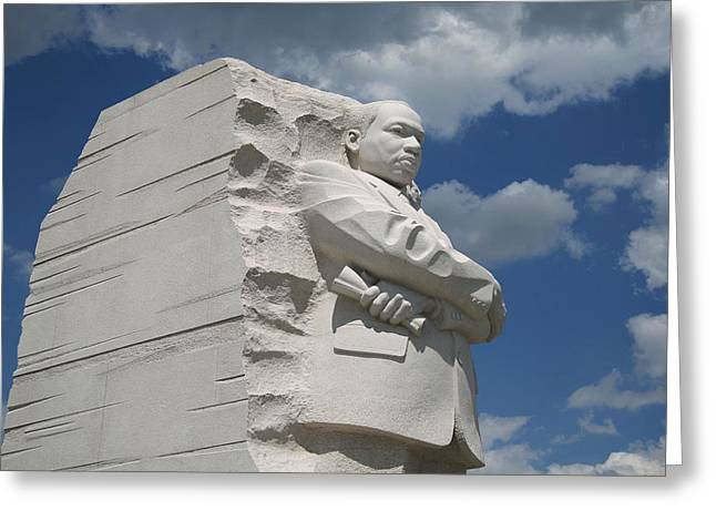 Greeting Card featuring the photograph Honoring Martin Luther King by Cora Wandel
