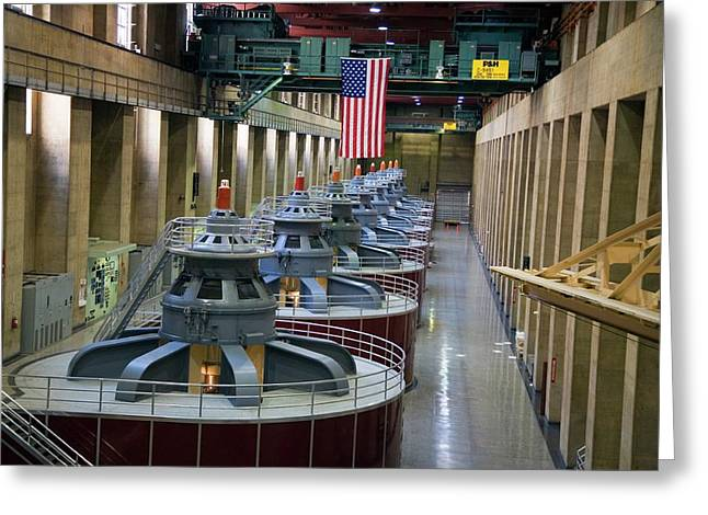 Hoover Dam Turbine Hall Greeting Card