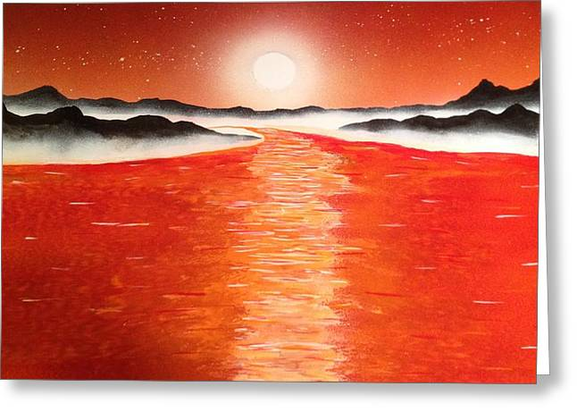 Greeting Card featuring the painting Horizon by Michael Rucker