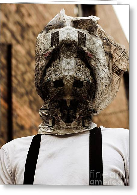 Horror News Head Lines Greeting Card by Jorgo Photography - Wall Art Gallery