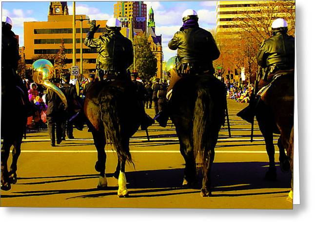 Horse Patrol Greeting Card