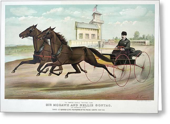Horse Racing, C1889 Greeting Card