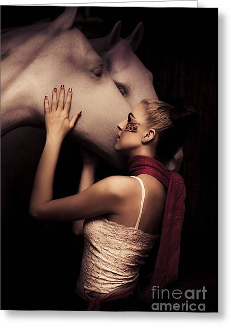 Horse Greeting Card by Jorgo Photography - Wall Art Gallery