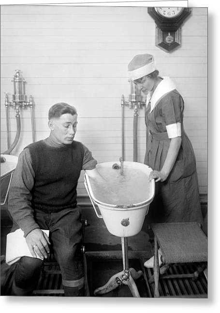 Hospital Hydrotherapy, 1920s Greeting Card