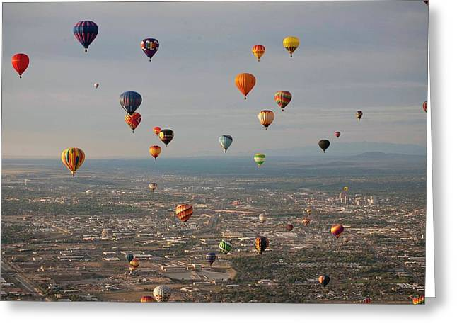 Hot Air Balloon Mass Ascent Greeting Card