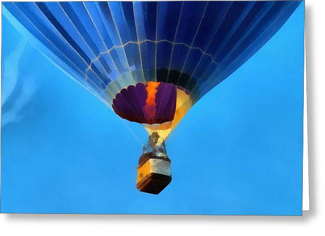 Hot Air Balloon Taking Off Greeting Card by Dan Sproul