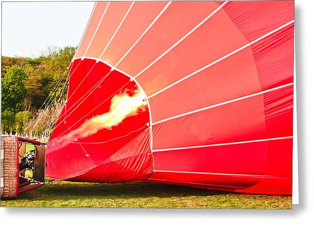 Hot Air Balloon Greeting Card by Tom Gowanlock