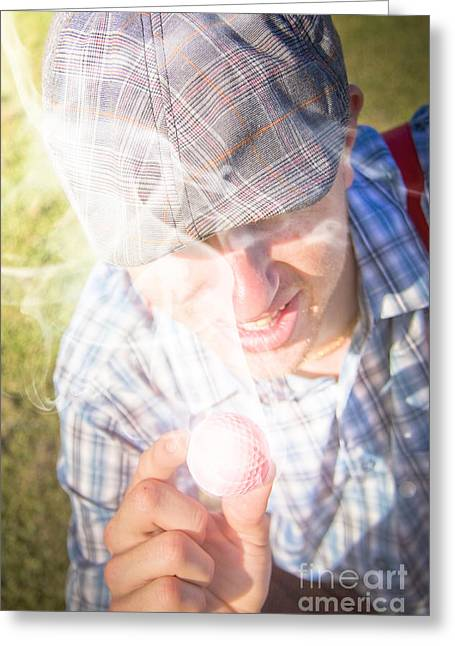 Hot Golf Greeting Card by Jorgo Photography - Wall Art Gallery