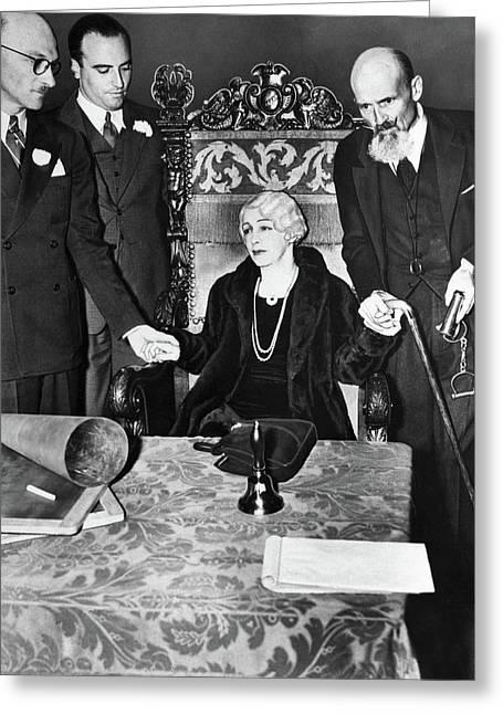 Houdini Seance, 1936 Greeting Card