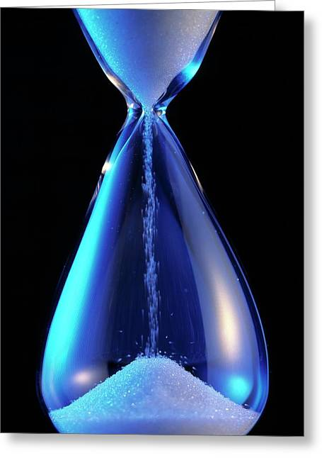 Hourglass Greeting Card by Sheila Terry/science Photo Library