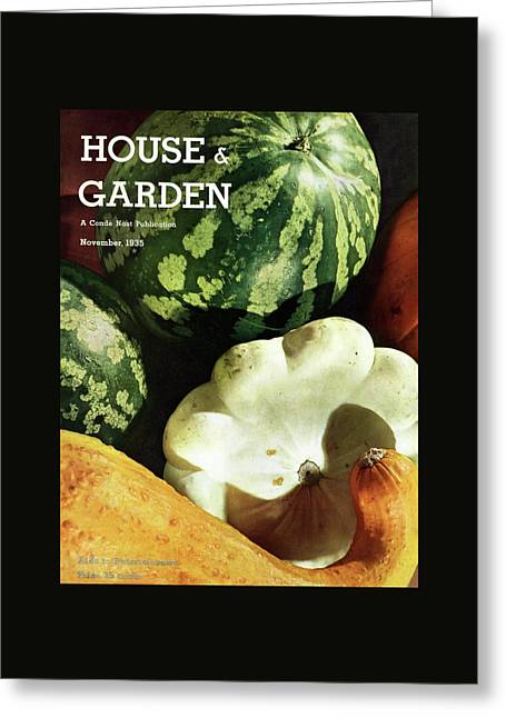 House And Garden Cover Greeting Card by Anton Bruehl
