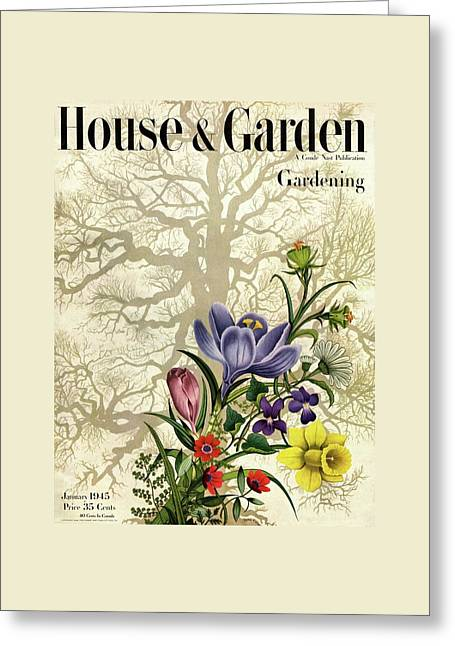 House And Garden Cover Greeting Card by Edna Eicke