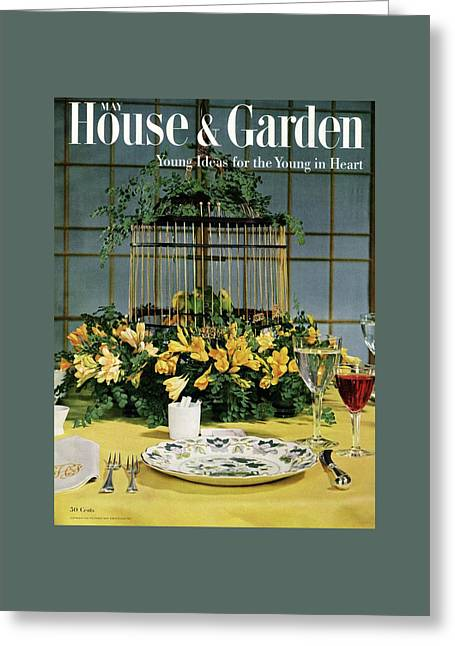 House And Garden Cover Greeting Card by Wiliam Grigsby
