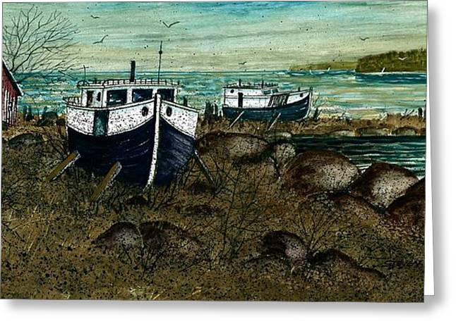 House Boats Greeting Card by Steven Schultz