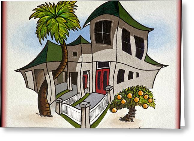 House Caricatures For Sale Greeting Card by Walt Foegelle