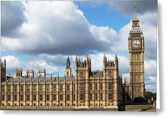 Houses Of Parliament Greeting Card by Mark Thomas