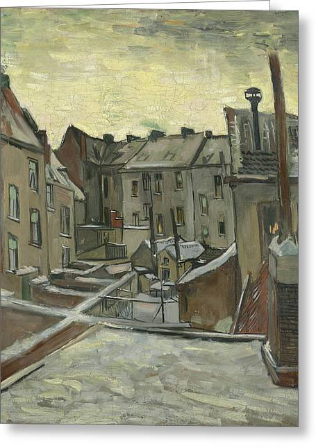 Houses Seen From The Back Greeting Card by Vincent Van Gogh