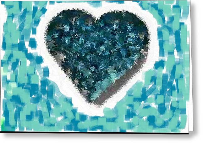 How Do I Live Teal Greeting Card by Holley Jacobs