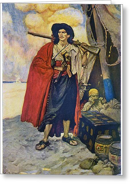 Howard Pyle Pirate Greeting Card by Granger