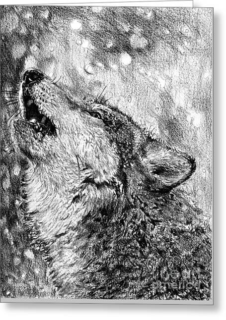 Howling Greeting Card by J McCombie